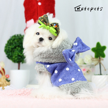 Dog Coat with Bowknot Pet Fashion Clothes for Dachshund, Poodle, Pomeranian, Schnauzer Princess