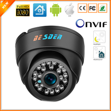 BESDER Wide Angle IP Camera Indoor Dome Camera Security 1080P FULL HD IP Camera IR Cut Filter 24 IR LED ONVIF Motion Detect RTSP(China)