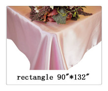 "Free shipping rectangle tablecloth size 90""*132"" color  pink  for wedding decoration /bar table cover"