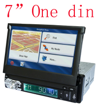 "Universal 7"" One 1 Din Car DVD GPS Navigation With Autoradio Audio Stereo Capacitive Touchscreen"