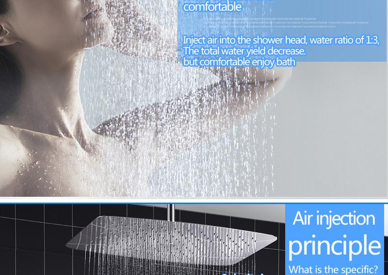 Bathroom 2 Way Hot Cold Brass Diverter Multifunctional Shower Kits Air Pressurized High Pressure Water Saving Shower Head Set (7)
