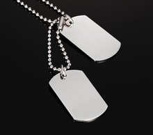 "VNOX Stainless Steel Double Dog Tag Necklace Pendant ID Men Jewelry 24"" Chain(China)"