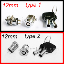 New arrival ( 1PC/PACK) 12mm Metal Key Switch 250V ON/OFF Lock Switch KS Electrical Key Rotary Switch with Keys(China)