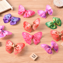 New 10pcs X Fashion Butterfly Bow Cat Pet Puppy Hair Clips Small Dog Grooming Pet Accessory
