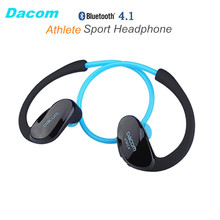 Dacom Athlete NFC Cordless Ear Hook Sport Bluetooth 4.1 earpiece Sweatproof Mini Wireless Hifi Bass Headphones With Microphone(China)