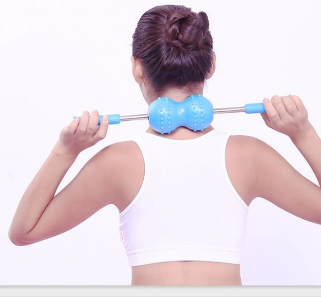 Vibrator roller cervical hammer meridian roll back is double roller ball back massager multifunctional massage from head to toe<br>
