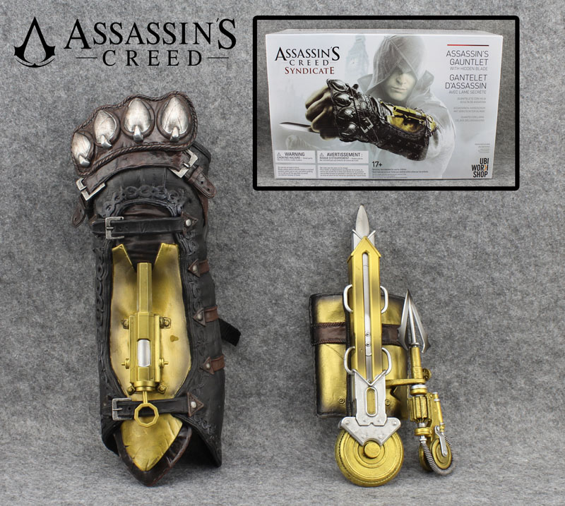 Free Shipping Assassins Assassins Creed Syndicate Gauntlet with Hidden Blade Avec Lame Secrete Cosplay Weapon Action Figure Toy<br>
