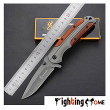 Browning wooden handle knife DA43 titanium version EDC high hardness rescue knives tools