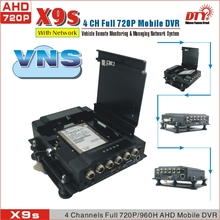 Google map moving path track h.264 dvr,Vehicle surveillance 720P+GPS Hard Disk 4Ch Bus AHD mobile DVR,X9sG(China)
