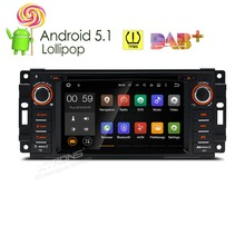 XTRONS 6.2 inch Android 5.1 Car DVD Player 1 din GPS DAB+TPMS OBD2 for JEEP Commander Grand Cherokee/DODGE Journey/CHRYSLER 300C