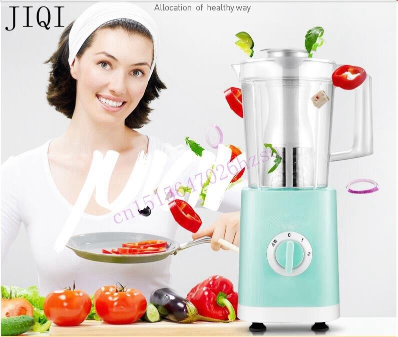 JIQI Food machine Juicer Mixer Blender processor Baby food maker Mixing milkshake Ice grinder Vegetable mincer 200W 1.2L for 3-5<br>