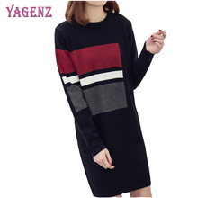 Autumn Winter Womens Sweater Pullover 2018 High Quality Loose Long Section Round Neck Plus Size Warm Ms Pullover Sweater 4XL(China)