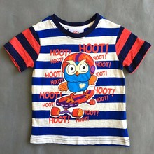 Sale baby boys clothes short sleeve T shirt cartoon owl summer tee shirts for boy children clothing 1T/2T/3T 100% cotton(China)