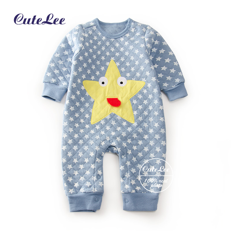 baby winter autumn cartoon stars quilted girl rompers newborn baby boy girl romper clothes jumpsuit baby roupa infantil menino<br><br>Aliexpress