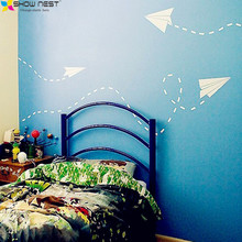 Graphic Arts Paper Airplane Wall Stickers Children Bedroom Decorations. Start Your Brain Airplane Routes You To Control Your DIY