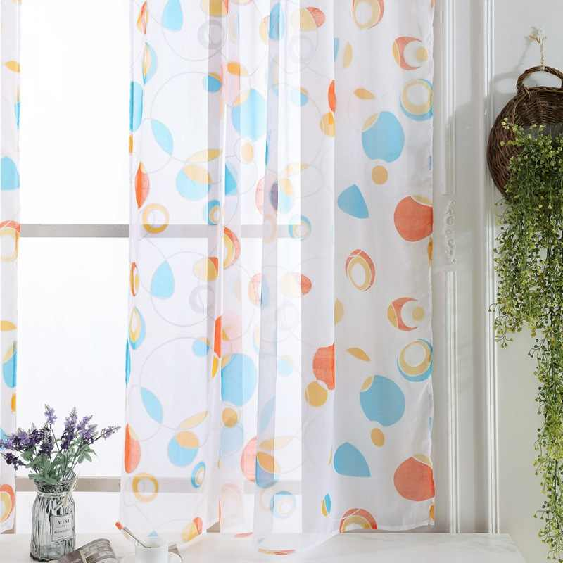 Tulle Curtains 3d Printed Kitchen Decorations Window Treatments American Living Room Divider Sheer Voile Curtain Modern Valance