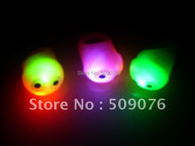 Free shipping 24pcs/lot Soft Jelly LED Glowing Finger Rings Flashing eye Rings Light For Events Festival Party Decors Favors(China)