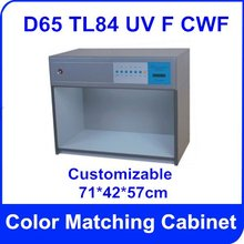 Free Shipping Color Matching Cabinet 5 light sources: D65 TL84 UV F CWF  Size:71*42*57cm  AC220V Customizable  Color Assessment