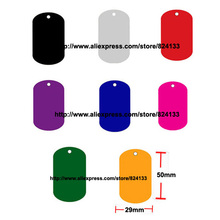500pcs/lot free shipping blank dog tags military,dog tag for men,pet tag id for dog product,mixed colors/lot