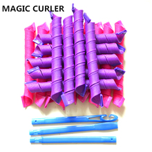 2017 new magic roller 18pcs/set 55cm long with diameter 1.5cm  Magic hair curler hair roller spiral curlers roller