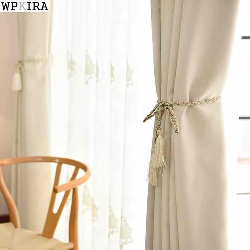Beige Solid Curtains for the Bedroom High Quality Curtains for the Living Room Window Pink Curtains Blinds Customized 092&30
