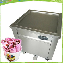 Free shipping  R404A Thailand Fried Ice Machine big Square  Fried Ice Cream Maker Make Roll Fried Yogurt