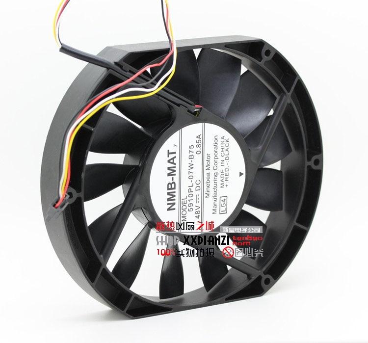 NMB-MAT 5910PL-07W-B75, L54 DC 48V 0.85A, 170x170x25mm   Server Square  fan<br>