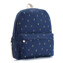 mochila kanken classic hot explosion models blue flowers canvas backpack fashion leisure schoolbag