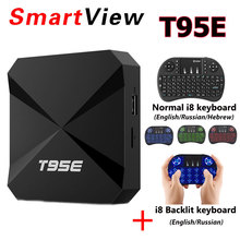 T95E Rockchip RK3229 Quad-Core Android 6.0 TV BOX 2GB 8GB BT2.1 2.4GHz WiFi Google Play Store Pre-installed 4KMedia Player IPTV