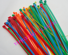 "2016 new 100pcs red yellow blue green 8"" 2.0x200mm Network Nylon Plastic Cable Wire Zip Tie Cord Strap bundle cable(China)"