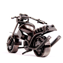 Lovely Mini Metal Model Motorcycles 2Color Iron Motorbike Models Toy Boys Gifts Kids Toys Wheel can be Moved(China)