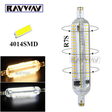 RAYWAY New Design Silicon R7S LED Lamp 78mm 118mm 10W 15W SMD4014 AC220-240V 360 degree lighting bulb replace halogen floodlight