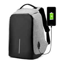 Men Backpack External USB Charging male Canvas Travel School Bags for teenagers Women 15 Inch Laptop package Backpack Anti Theft