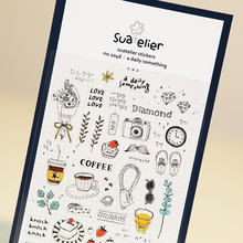 1 x SONIA Daily Life paper sticker DIY decorative sticker for album scrapbooking kawaii stationery diary sticker