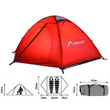 Outdoor Waterproof Double Layer Camping Tent 3 Season For Camping Hiking Fishing Picnic Colorful