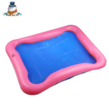 New Hot child Sand Sculpture Sand table Inflatable Sand Tray Plastic Mobile Table Baby Toy Inflatable cushion
