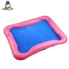 New Hot child Sand Sculpture Sand table Inflatable Sand Tray Plastic Mobile Table Baby Toy Inflatable cushion(China)