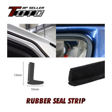 "472"" 1200cm L Shape Proile Car Protector Trim noise control Truck Camper Door Edge Rubber Seal Strip adhesive"
