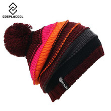 [COSPLACOOL] Fashion Snowboard winter hat warm woolen caps for men and women Hats Brand SNSUSK Snowboard Winter hat