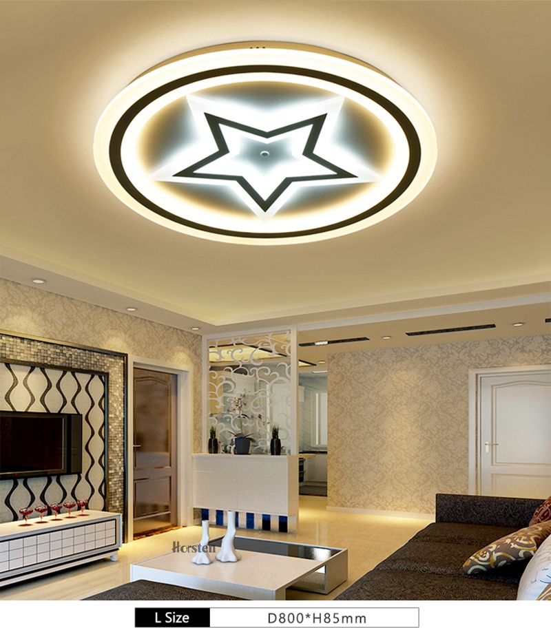 Modern Acrylic LED Ceiling Lights For Living Room Bedroom 50cm 60cm 80cm Simple Star Design Ceiling Lamp With Remote Control 220V (3)