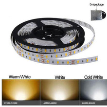 LED strip 5730 SMD DC12V 60LED/m 5m/lot No-waterproof New LED strip light 5730 Bright than 5630/5050 White Warm White Cold White