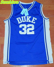 SexeMara Christian Laettner 32 DUKE Basketball Jersey Blue Cheap Throwback Basketball Stitched Jerseys Free Shipping(China)