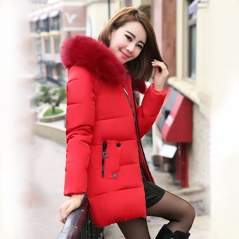 Cotton Padded Down Outwear Winter Jacket Women Nice New Hooded Fur Collar Coat Female Thick Warm Womens Winter Jacket AW1131Одежда и ак�е��уары<br><br><br>Aliexpress