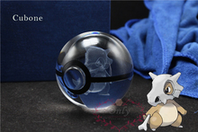 New Pokemon Go Cubone Crystal Transparent Glass Ball Crtoon Animals Design Inside Action Figures Pokemon Toy Christmas Gifts