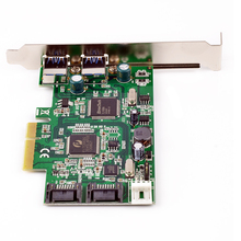 PCI-e to Dual SATA 6Gb/s + 2-Port External USB 3.0 PCI Express Combo Card SATA III Port Multiplier PCIe