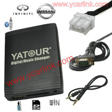 Yatour USB SD AUX MP3 audio media player for Nissan Infiniti autoradio without 6 Disc CD
