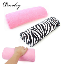 Soft Zebra Stripe/Pink Hand Rest Cushion Pillow Nail Pillow Cushion Nail Art Design Equipment Manicure Half Column Sponge Tools(China)
