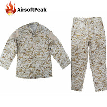 Military Special Force Uniform Clothes Set Combat Shirt Pants Digi Desert Men Airsoft Tactical Camouflage Printed Ghillie Suit(China)