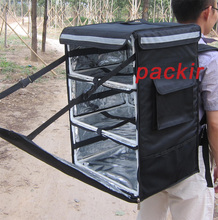 "PK-86A: Heat Preservation Boxes, Backpack Food Delivery Bag with Dividers, w/3 Partitions for Hot/Cold, 16"" L x 13"" W x 24"" H(China)"