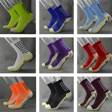 TOP Quality Men Anti-Slip Football Socks TockSox Mid Calf Football Socks Soccer Short Stockings TruSox Futbol Meias Calcetines